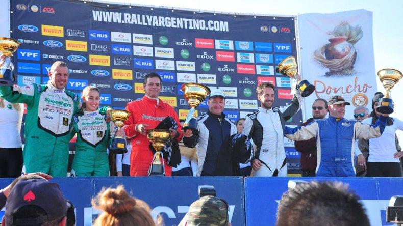 El podio del Rally de Catamarca 2017 dentro de la Clase RC2N donde Luis Arceluz fue el vencedor.