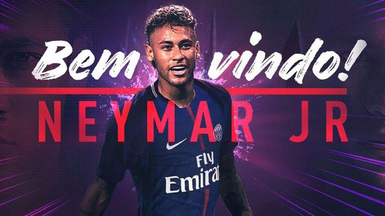 En Francia ya le dan la bienvenida al brasileño Neymar.