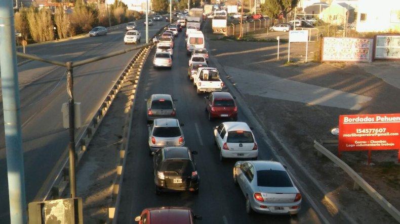 Hubo congestión en el tránsito por un accidente en Ruta 3