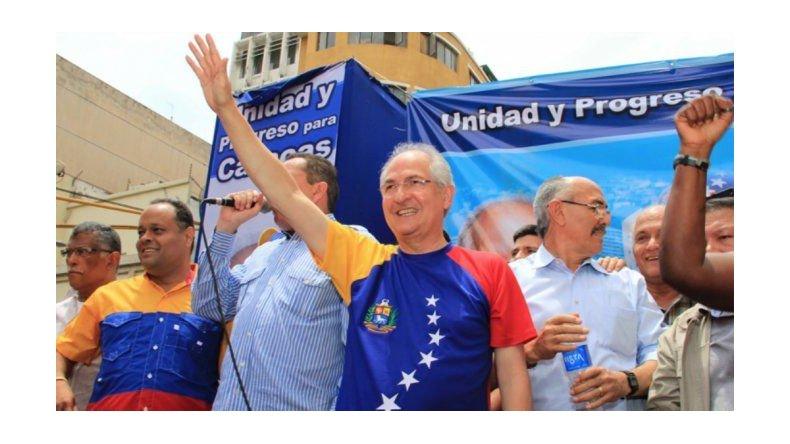 Liberaron al opositor venezolano Antonio Ledezma