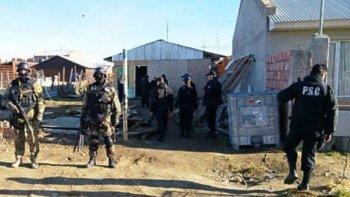 Los allanamientos se realizaron en casas de referentes de la UOCRA ubicadas en diferente barrios de Río Gallegos.