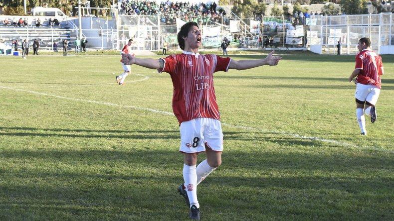 Jorge Barrera grita su gol del empate.