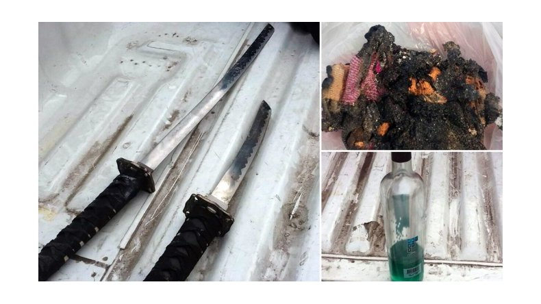Detuvieron al Loco de la Katana: amenazó a su ex novia con dos espadas