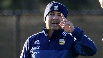 sampaoli dio la lista para jugar con uruguay y venezuela