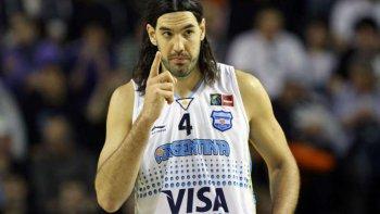 Luis Scola, el capitán y único jugador de la denominada Generación Dorada que permanece en la selección argentina, aunque hoy no jugará.