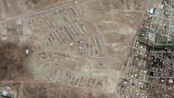 El sitio donde se encuentra emplazado el futuro loteo de Petroleros Jerárquicos en Km 12.