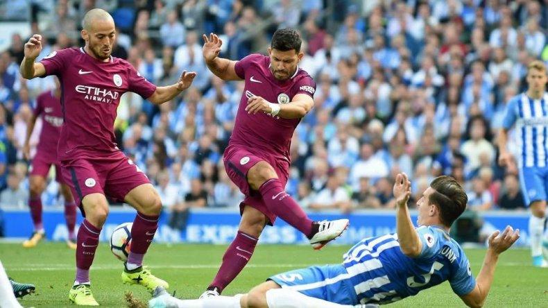 Agüero hizo un gol en la victoria del Manchester City