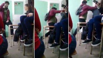 un joven golpeo a un alumno en medio de una discusion politica
