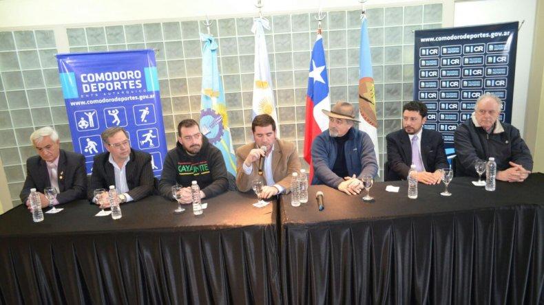 Presentaron en Comodoro la 27° edición de los Juegos Binacionales de la Araucanía