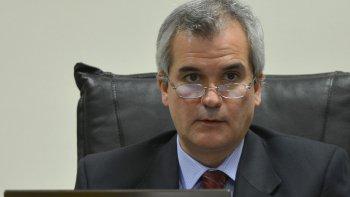 El juez de la causa, Alejandro Rosales. El miércoles se conocerá si se declara la responsabilidad penal deladolescente acusado por el robo en la casa del director de la Oficina Judicial de Sarmiento.