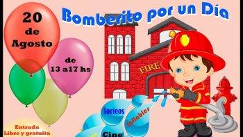 bomberos invitan festejar el dia del nino este domingo