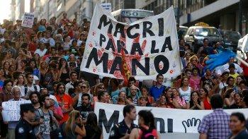 La manifestación de esta tarde tiene como objetivo protestar contra las políticas económicas y laborales del gobierno de Mauricio Macri.