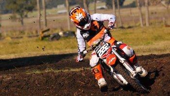 El comodorense Tomás Brazao tuvo un fin de semana positivo den el MX del Norte de motocross.