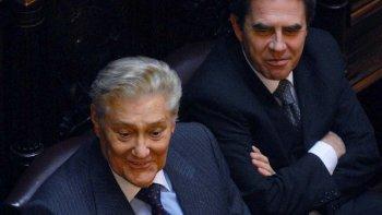 Eduardo César Angeloz en el Congreso de la Nación. Fue dos veces senador.