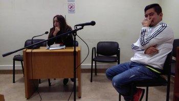 Daniel Almonacid durante la audiencia de revisión de la prisión preventiva.