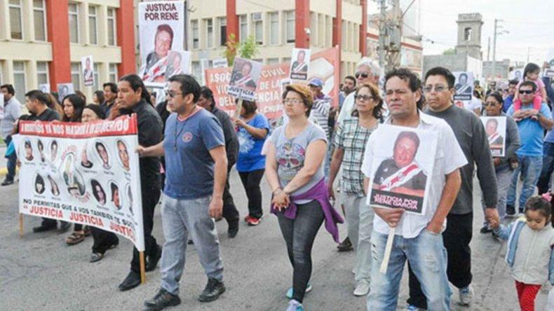 Marcha en pedido de justicia por el crimen de René García. Foto: Jornada.