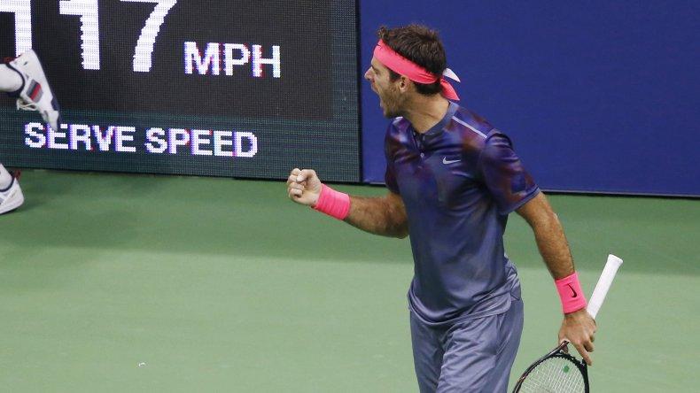 Del Potro venció a Federer y enfrentará a Nadal en semifinales