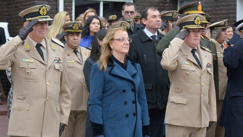 La gobernadora Alicia Kirchner estuvo presente en el acto conmemorativo al centenario del asentamiento de la Prefectura Naval en territorio santacruceño.