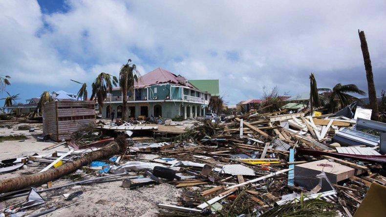 Los daños que dejó el huracán Irma en su paso por la isla de Saint Martin.