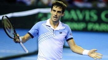 Guido Pella es uno de los singlistas del equipo argentino de Copa Davis que el viernes comenzará a jugar el repechaje en Astaná.