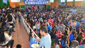 En Las Heras, el agasajo se realizó en instalaciones del Gimnasio Municipal N° 11.