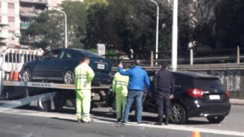 javier pinola protagonizo un accidente de transito