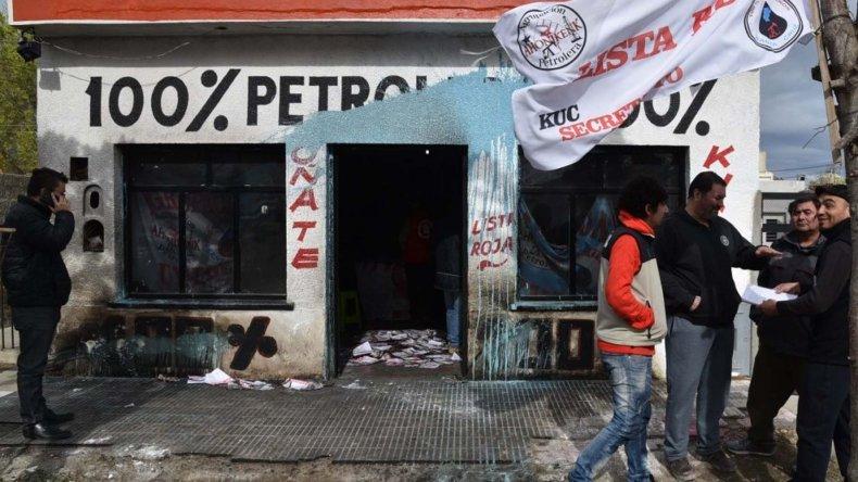 El local de la Lista Roja que impulsa la candidatura de Martín Oñate
