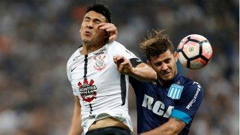 racing rescato un empate frente a corinthians en brasil