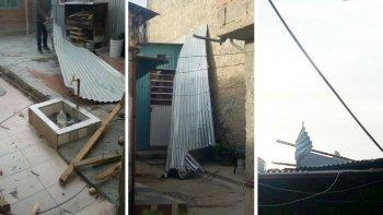 en una semana le cayeron dos techos en el patio