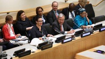 La vicepresidente argentina, Gabriela Michetti, inició ayer su agenda oficial en el marco de la 72 Asamblea General de las Naciones Unidas.
