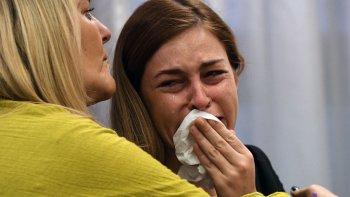 Giuliana Belén Peralta ayer no ocultó su dolor luego de que Alexis Zárate quedara en libertad.