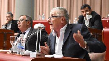 Jerónimo García ocupando ayer su rol de diputado provincial.