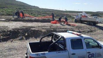 la policia debio intervenir en el levantamiento de un asentamiento ilegal