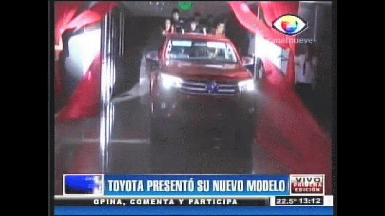 Toyota presentó su nuevo modelo. Canal 9.
