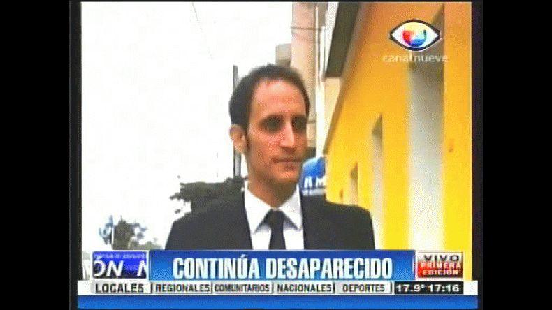 Continúa la búsqueda de Nicolás Capovilla