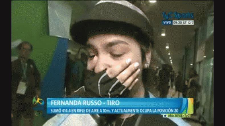 Fernanda Russo de 16 años terminó 20º en Tiro y lloró de alegría