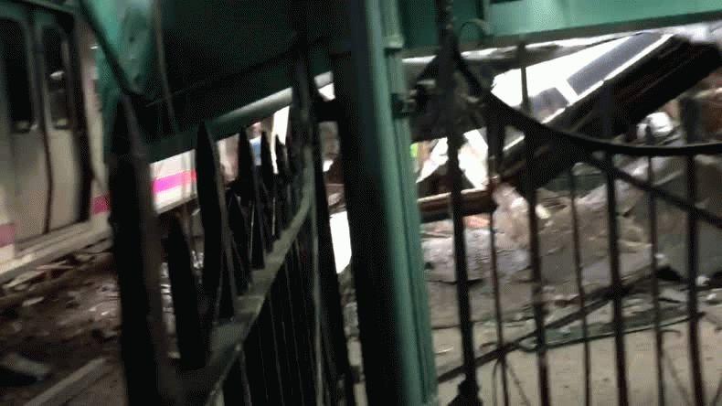 Se estrelló un tren en Nueva Jersey: 3 muertos y al menos 100 heridos