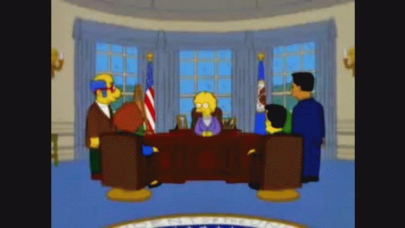 Los Simpson habían anticipado que Donald Trump sería presidente