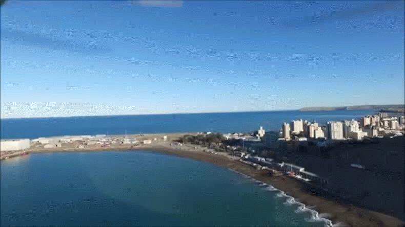 El puerto, Centro, Kilómetro 3 y el mar desde el cielo