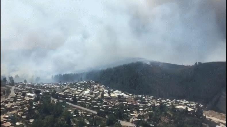 Se quemó un pueblo entero en Chile: mil viviendas incendiadas